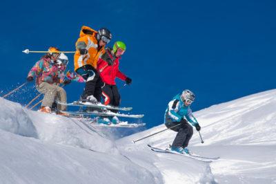 Plein ski à Morillon